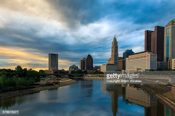 columbus downtown - ohio stock photos and pictures