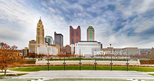 columbus from genoa park - columbus ohio stock pictures, royalty-free photos & images