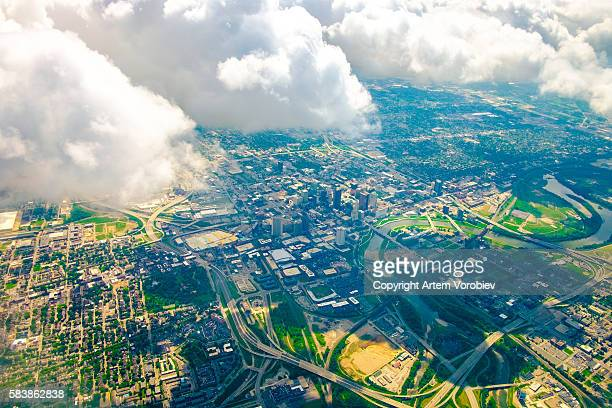 columbus from the air - ohio stock pictures, royalty-free photos & images