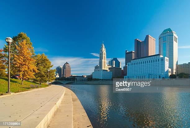 columbus, oh riverfront - columbus ohio stock pictures, royalty-free photos & images