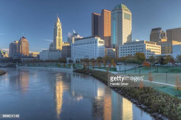Columbus, Ohio skyline on a beautiful day