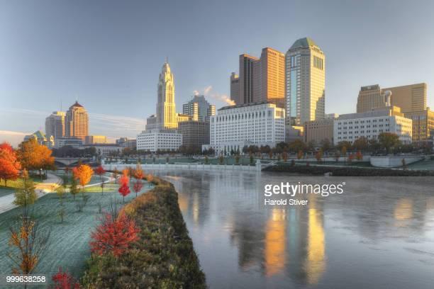 Columbus, Ohio skyline on a clear fall day
