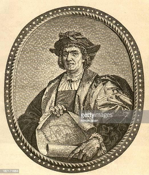 Columbus Portrait Engrave