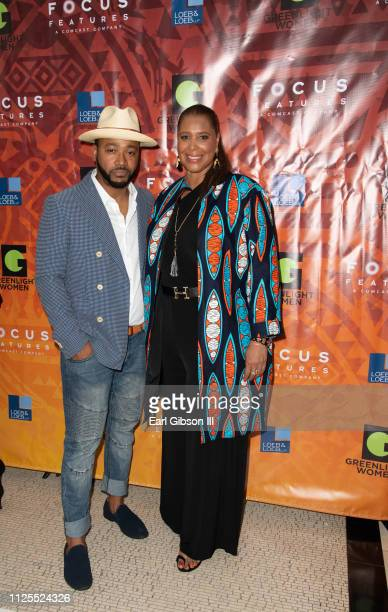 Columbus Short and Kim Ogletree attend the Greenlight Women For Black History Month Brunch Celebration at The London on February 17 2019 in West...