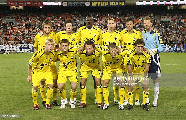 Columbus's starters pose for a team photo Front row Andrew Peterson Robbie Rogers Adam Moffat Alejandro Moreno Guillermo Barros Schelotto Back row...