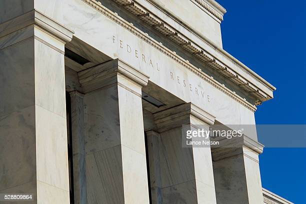 column detail at federal reserve - federal reserve stock pictures, royalty-free photos & images