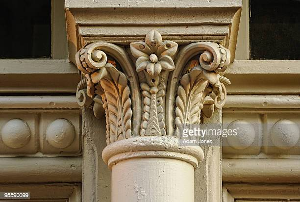 column detail - architectural cornice stock photos and pictures