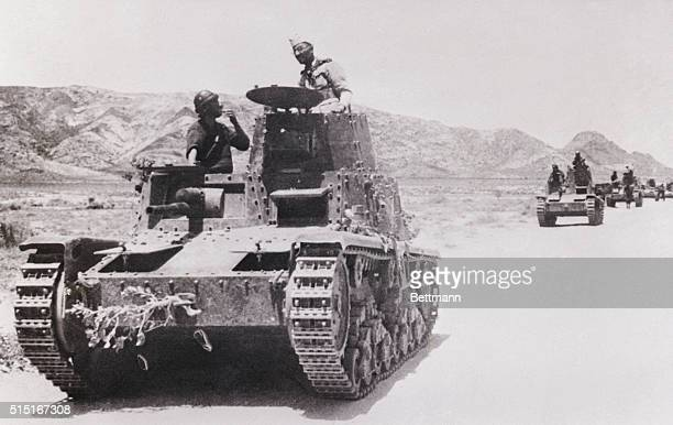 Italian Tanks Advance On British Somaliland Italian tanks advancing on British Somaliland just prior to evacuation of Britain's forces from the...