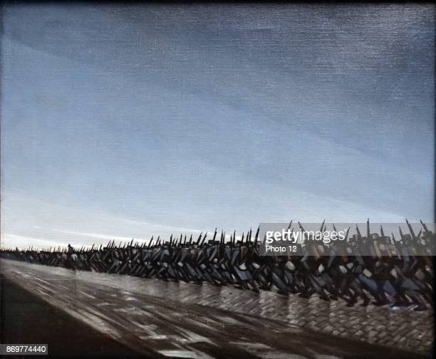 Column on the March by Christopher Richard Wynne Nevinson oil on canvas World war one soldiers