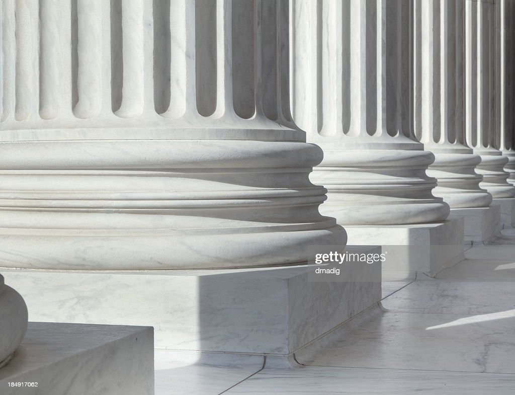 Column outside U.S. Supreme Court building : Stock Photo