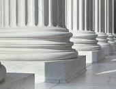 Column outside U.S. Supreme Court building