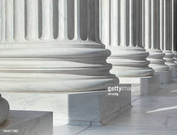 column outside u.s. supreme court building - politics stock pictures, royalty-free photos & images