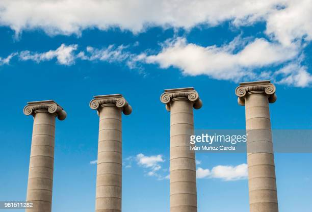 columnas puig i cadafalch in barcelona - puig barcelona stock pictures, royalty-free photos & images