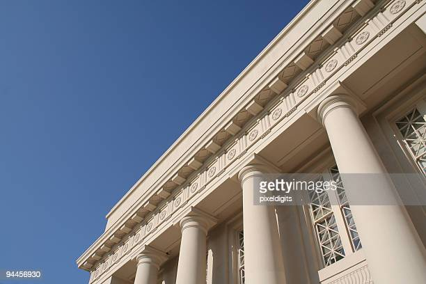 columned building - horizontal - federal building stock pictures, royalty-free photos & images