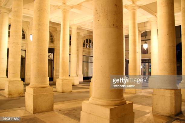columned square - palais royal stock pictures, royalty-free photos & images