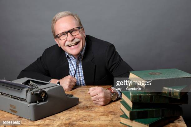 Columnist and author Chris Erskine is photographed for Los Angeles Times on April 21 2018 in the LA Times Studio at the Los Angeles Times Festival of...
