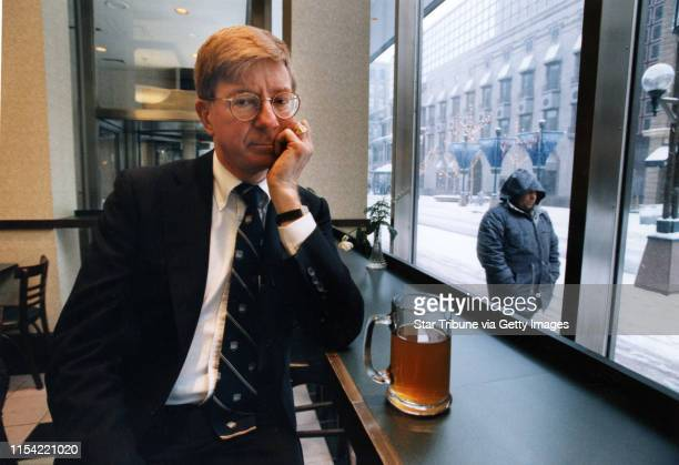 Columnist and author George F. Will sits at the counter of the Nicollet Mall Barnes & Noble bookstore having hot tea, trying to regain his lost...