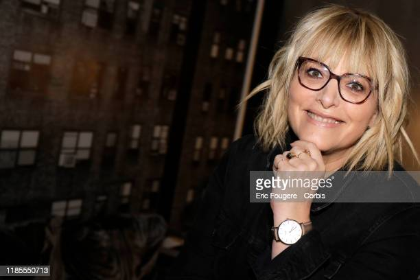 Columnist and host of French radio and television Caroline Diament poses during a portrait session on October 15 2019 in Paris France