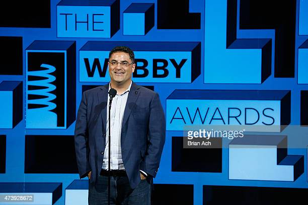 Columnist Cenk Uygur speaks on stage at the 19th Annual Webby Awards on May 18 2015 in New York City
