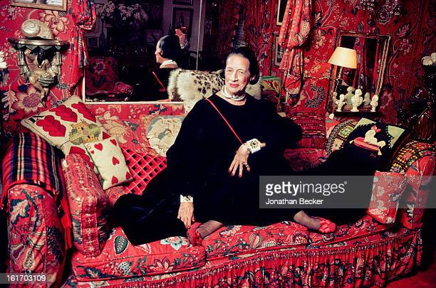 Columnist Diana Vreeland is photographed for Vanity Fair Magazine on July 21 1979 in New York City PUBLISHED IMAGE PUBLISHED IN JONATHAN BECKER 30...