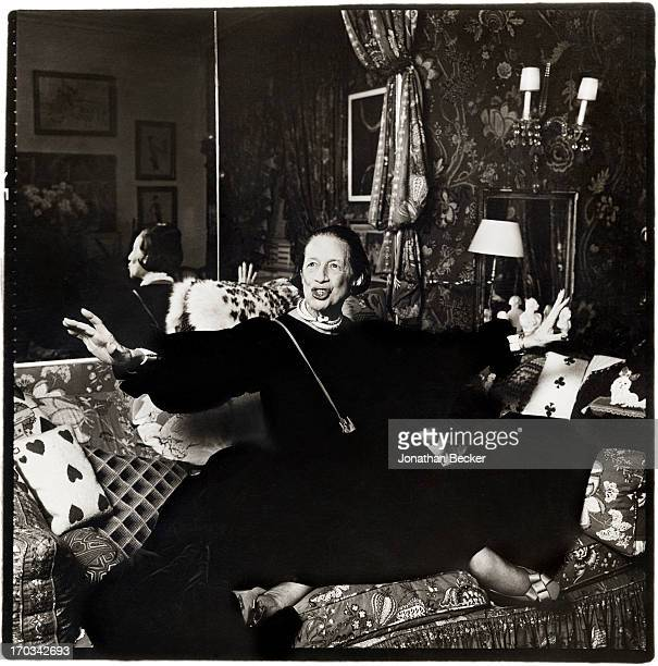 Columnist Diana Vreeland is photographed for Vanity Fair Magazine on July 21 1979 in New York City PUBLISHED IMAGE