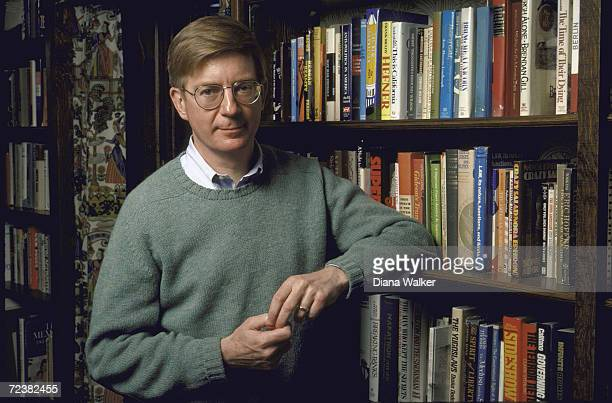 Columnist George Will at home.