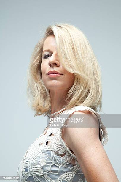 Columnist Katie Hopkins is photographed for the Guardian on June 19 2015 in London England
