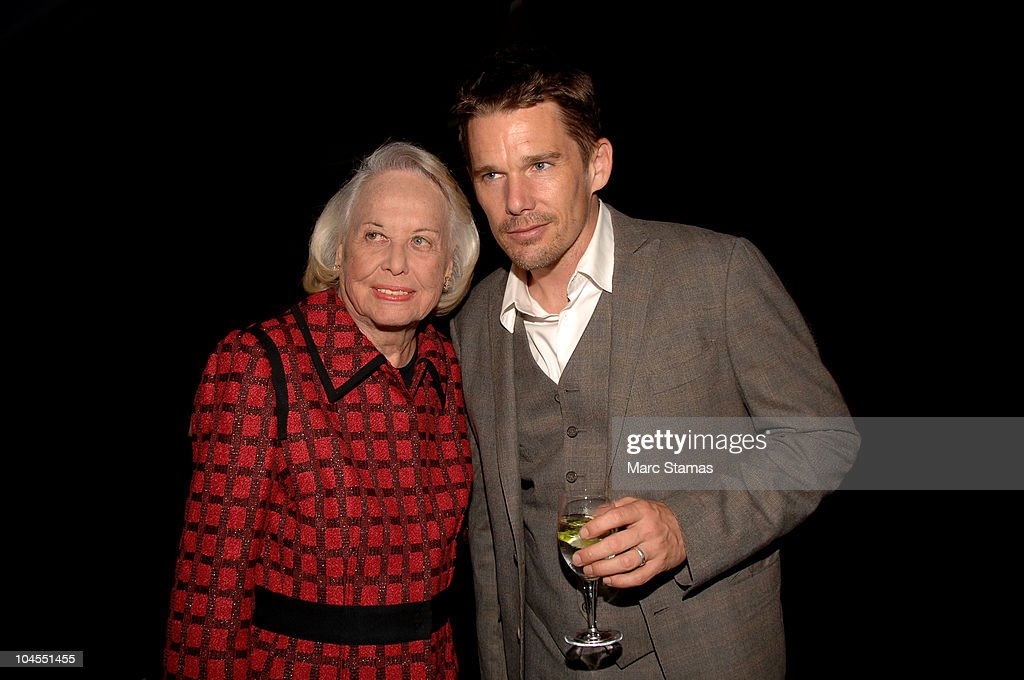 Columnist Liz Smith (L) and Actor Ethan Hawk (R) attend the 7th Annual Fete De Swifty benefit on September 29, 2010 in New York City.
