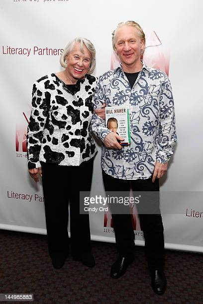 Columnist Liz Smith and comedian Bill Maher attend the 28th annual 'Evening of Readings' gala at Frederick P Rose Hall Jazz at Lincoln Center on May...