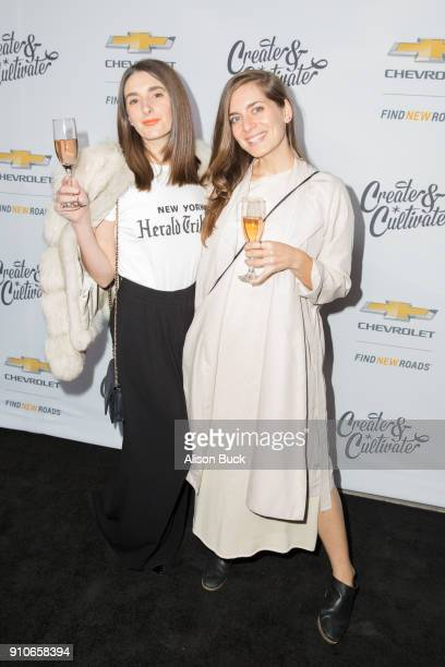 Columnist Marissa Ross and Owner of Taste of Pace Pace Webb attend Create Cultivate and Chevrolet Host Create Cultivate 100 on January 25 2018 in...