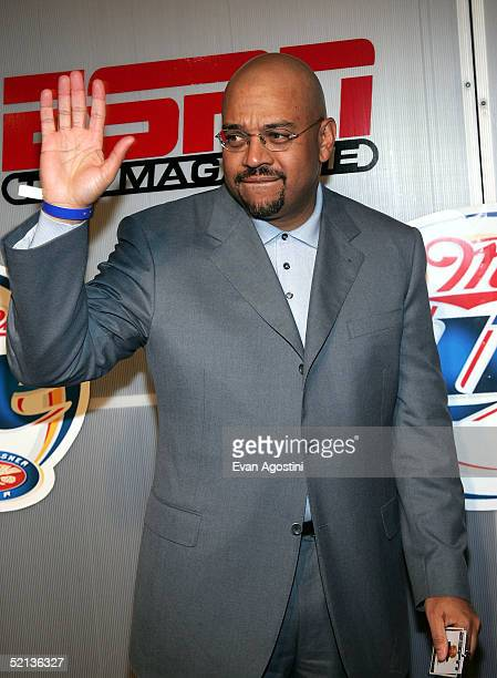 Columnist Michael Wilbon attends the Next House ESPN The Magazine party on February 4, 2005 in Jacksonville, Florida.