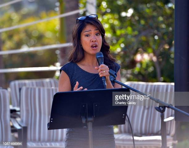Columnist Michelle Malkin speaks at the International Innovators Forum at the Fight for Social Justice and Human Rights on November 4 2018 in Malibu...