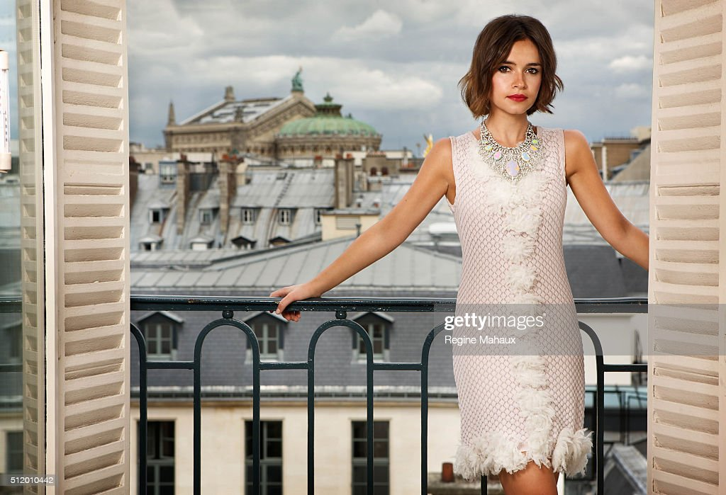 Columnist Miroslava Duma is photographed for Self Assignment on June 15, 2012 in Paris, France.