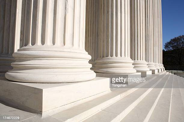 columns and supreme court - federal building stock pictures, royalty-free photos & images