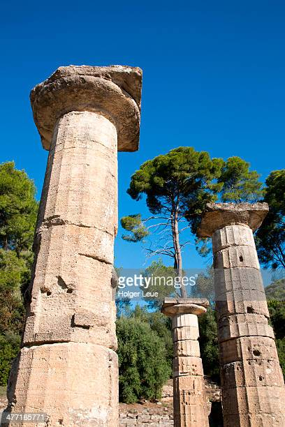 Columns at Ancient Olympia archaeological