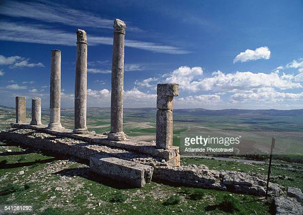 Columns at Saturn Temple in Dougga