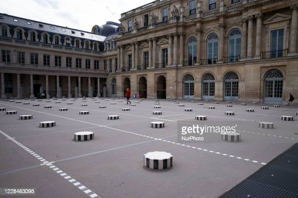 Columns by Daniel Buren in the gardens of the Royal Palace in Paris it was necessary to undertake a remodeling by the architect Victor Lovirs in...