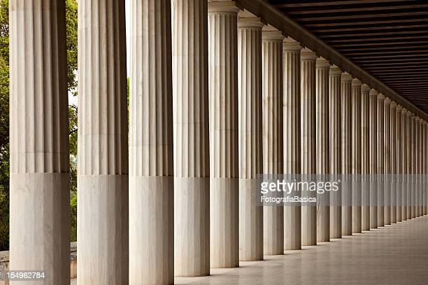 Columns in the Ancient Agora, Athens, Greece