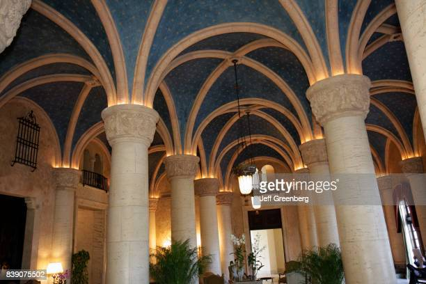 Columns in the lobby at Biltmore Hotel