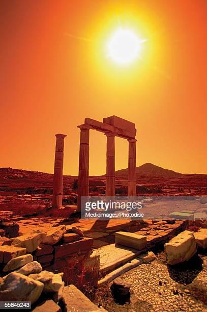 Columns in the Precinct of the Priest of Poseidon, Delos, Greece