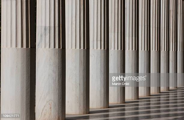 columns in the Stoa of Attalos
