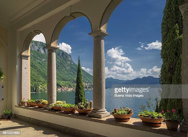 Columns of a Villa on Lake Como