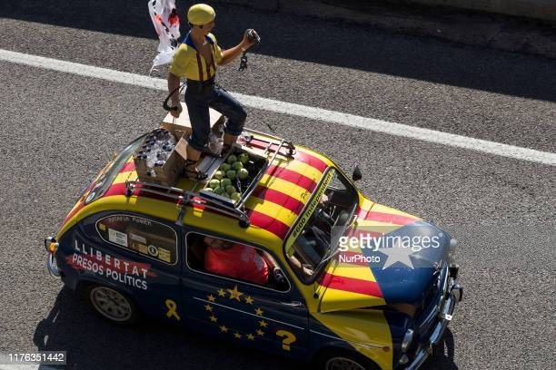 Columns of citizens came out from different cities throughout Catalonia on October 16 to demonstrate their rejection of the convictions of political...