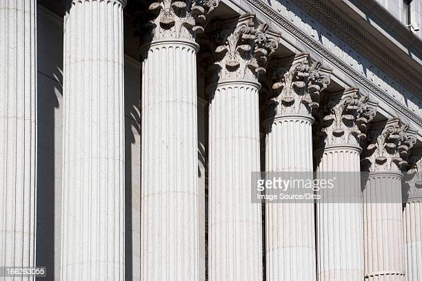 columns of ornate building - column stock pictures, royalty-free photos & images
