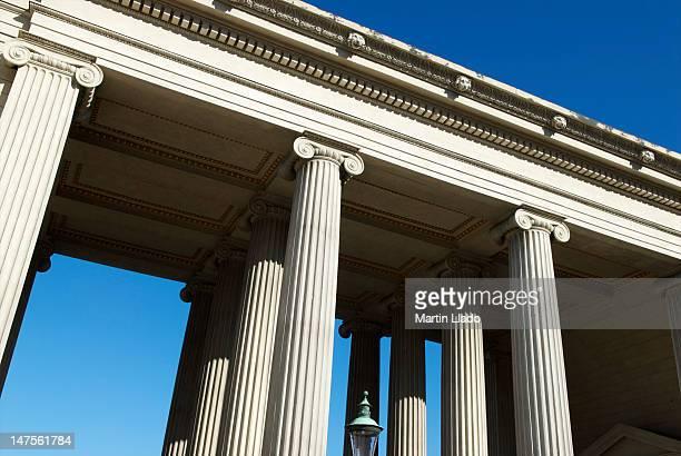 columns of the public amalienborg palace - amalienborg palace stock pictures, royalty-free photos & images