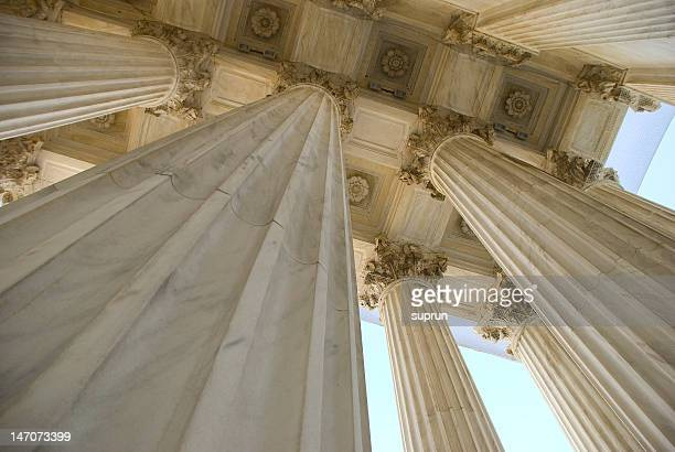 columns of the supreme court building - us supreme court building stock pictures, royalty-free photos & images