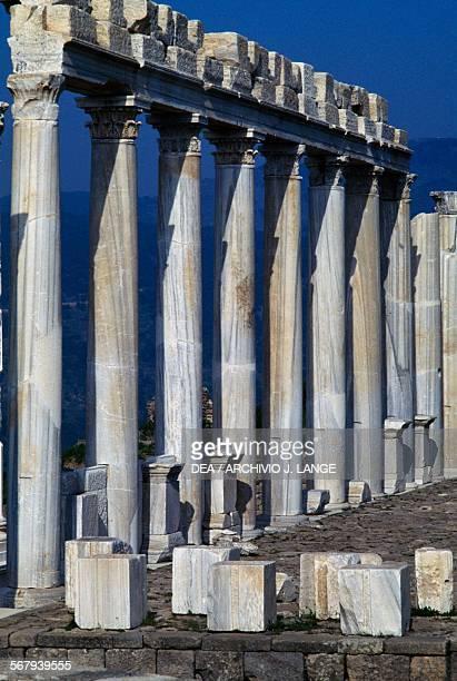 Columns of the Temple of Trajan or Trajaneum 120125 AD Pergamon Turkey Roman civilisation 2nd century AD