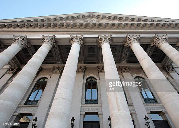 Columns on a building.