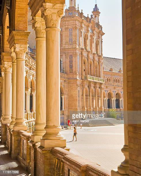 Columns,Plaza de Espana, Seville, Andalucia, Spain