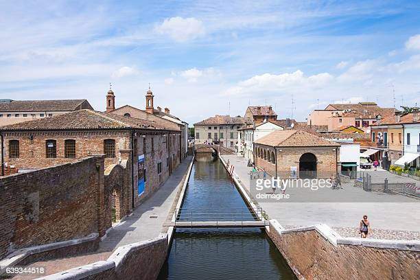 comacchio city, italy. - ferrara stock pictures, royalty-free photos & images